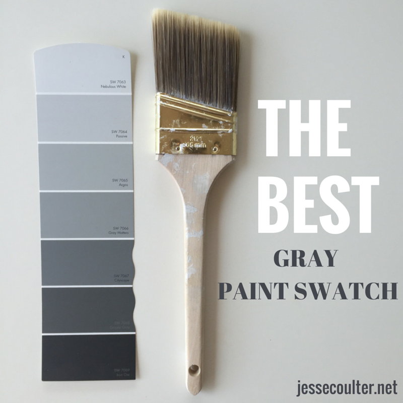 The perfect shade of gray paint jesse coulter for Light gray color swatch