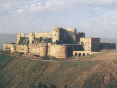 Gambar Benteng Chevaller di Suriah
