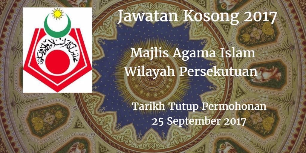 Jawatan Kosong MAIWP 25 September 2017