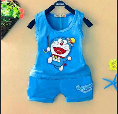 baju untuk anak umur 2 tahun gambar doraemon