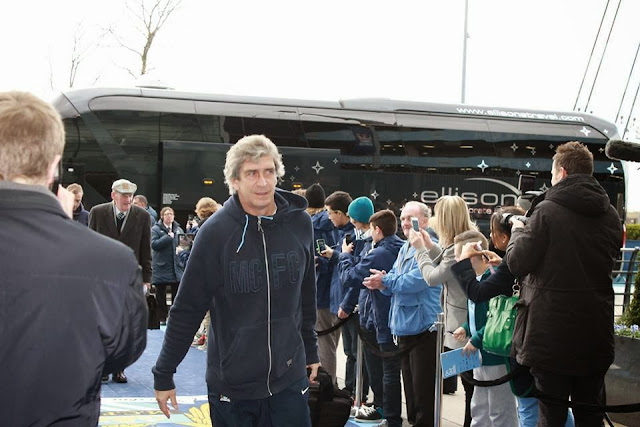 Manuel Pellegrini arriving at The Etihad