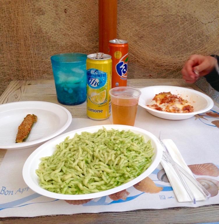 Trofi pesto pasta Gastronomia San Martino