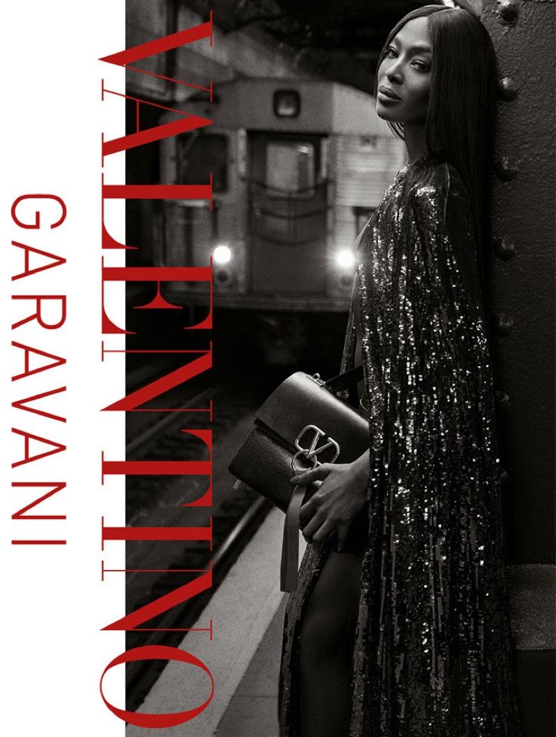 Naomi Campbell fronts Valentino VRING handbag campaign