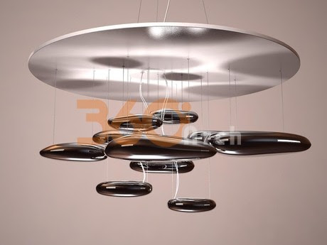 06 [3D Model Free] Modern lights set 1