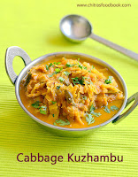 Cabbage masala kuzhambu