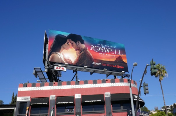 Roswell New Mexico series launch billboard