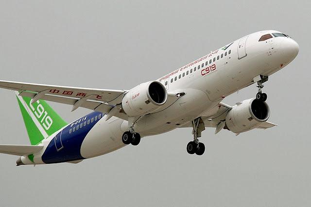 FIRST CHINESE-BUILT PASSENGER JET MAIDEN FLIGHT