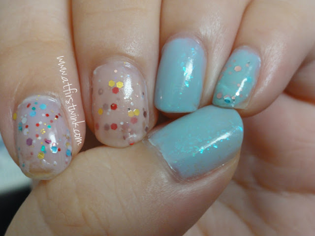 Tony Moly glitter yogurt nails and pa flakies nail polish