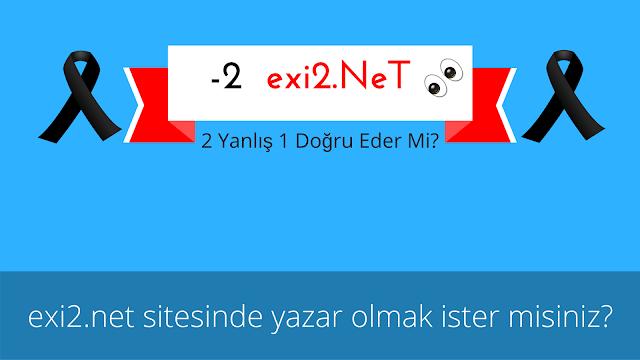 """""""exi2.net"""" Sitesinde Yazar Olmak İster Misiniz?"""