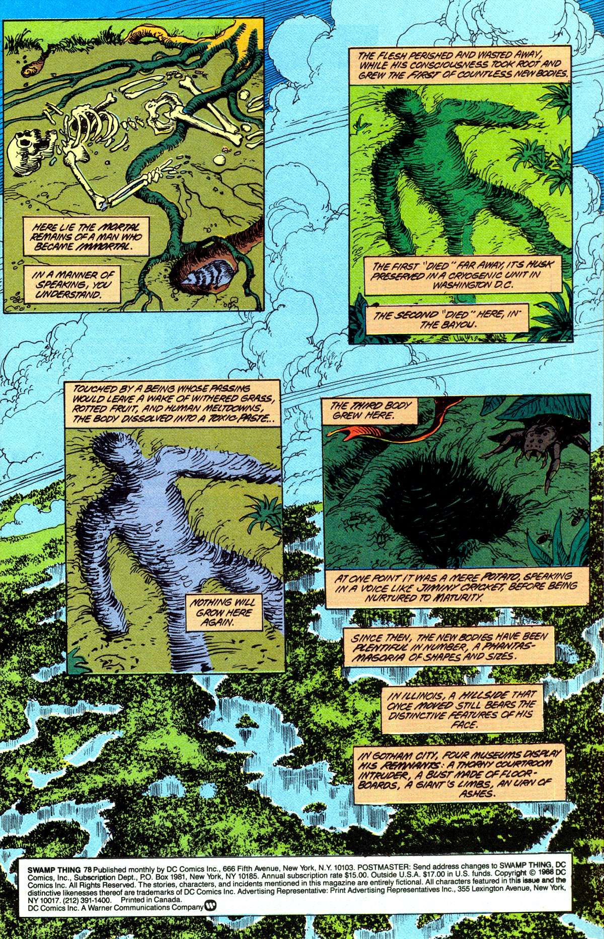 Swamp Thing (1982) Issue #78 #86 - English 3