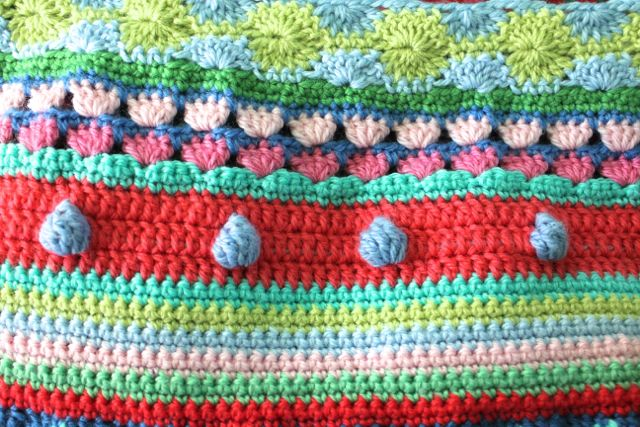 Little Woollie Mixed Stitch Stripey Blanket Crochet A Long
