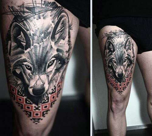erkek üst bacak dövme modelleri man thigh tattoos 17