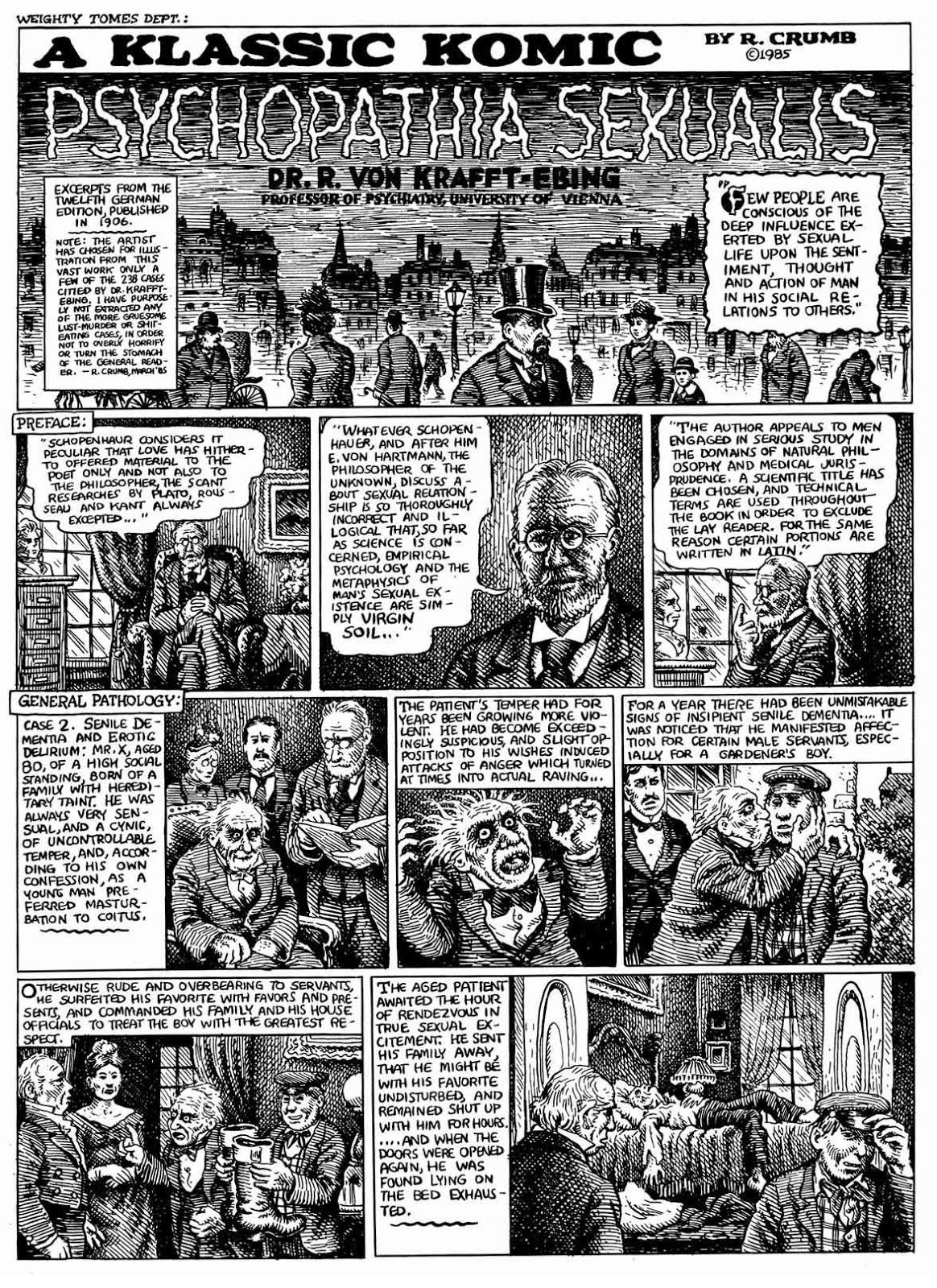 Psychopathia sexualis im comic-strip
