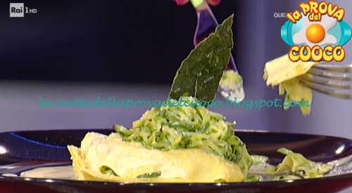 Prova del cuoco - Ingredienti e procedimento della ricetta Lasagnetta aperta con zucchine e fonduta di pecorino di Katia Maccari