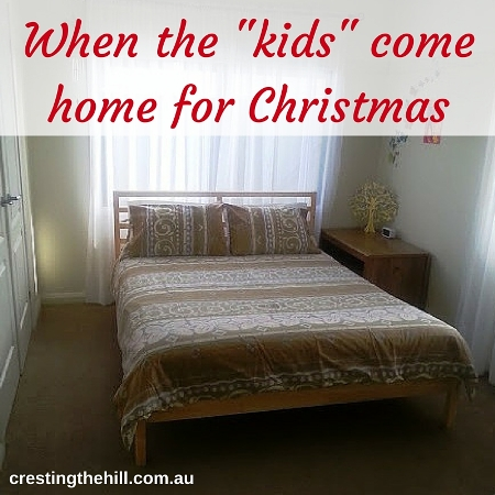 Come Home For Christmas.When The Kids Come Home For Christmas Cresting The Hill