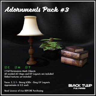 [Black Tulip] Mesh - Adornments Pack #3