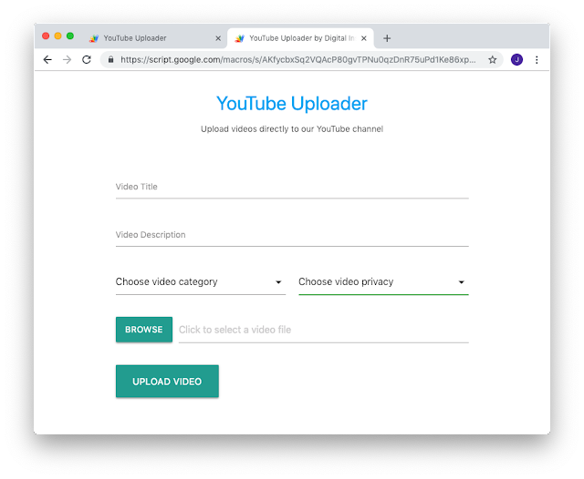YouTube Uploader – Let Others Upload Videos to your YouTube Channel