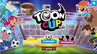 لعبة كاس تون 2018 الاصلية العاب كرتون نتورك ابطال الكرة مجانا