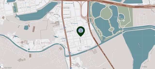 vị trí thuận tiện của chung cư số 1 Trần Thủ Đạo