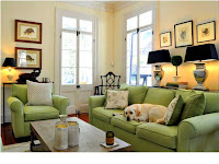 Apple Green Color For Living Room