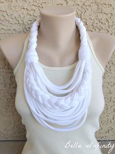 DIY necklace-scarf