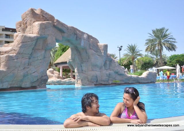 Ed and Lady in Danat Al Ain Resort