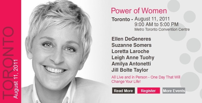 mr will w pop maven ellen degeneres to speak at power of women conference in toronto. Black Bedroom Furniture Sets. Home Design Ideas