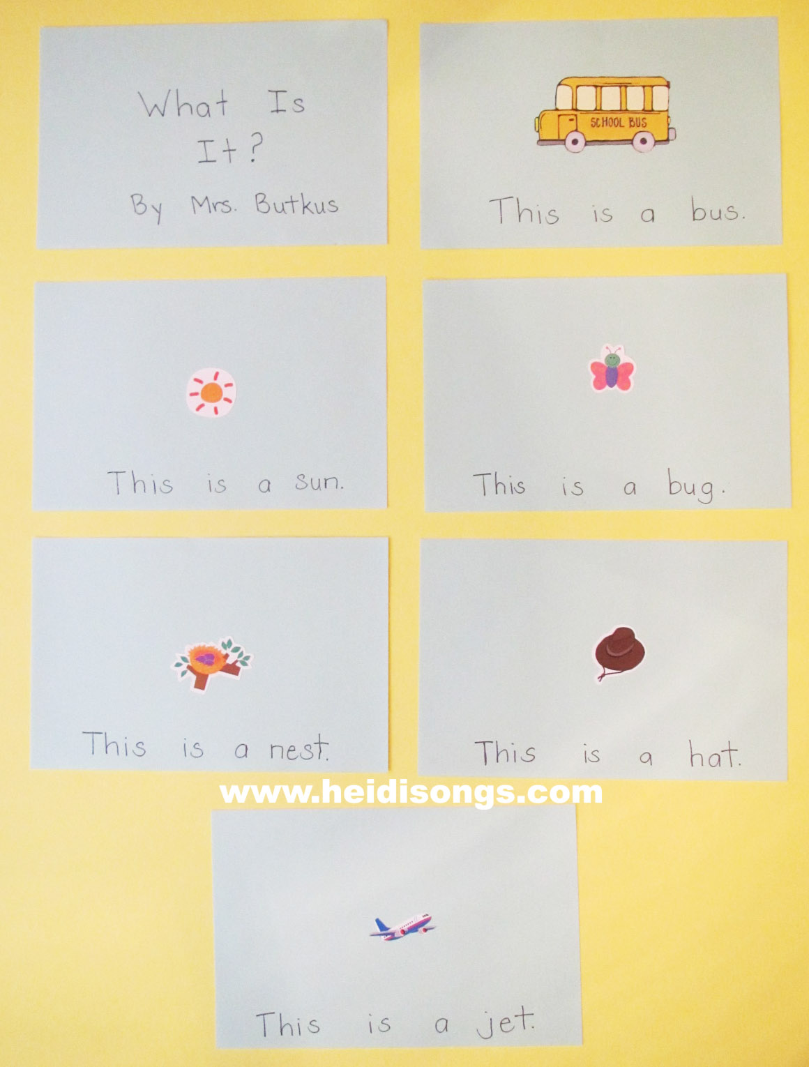Another One Of My Sight Word Sticker Book Examples