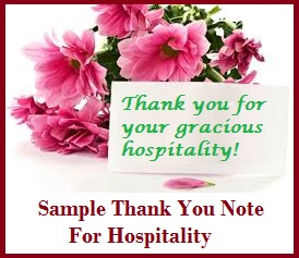 Sample messages and wishes thank you for hospitality after enjoying an excellent hospitality from your friends or relatives it is a must to send the host a note of thanks for the hospitality you received expocarfo Gallery