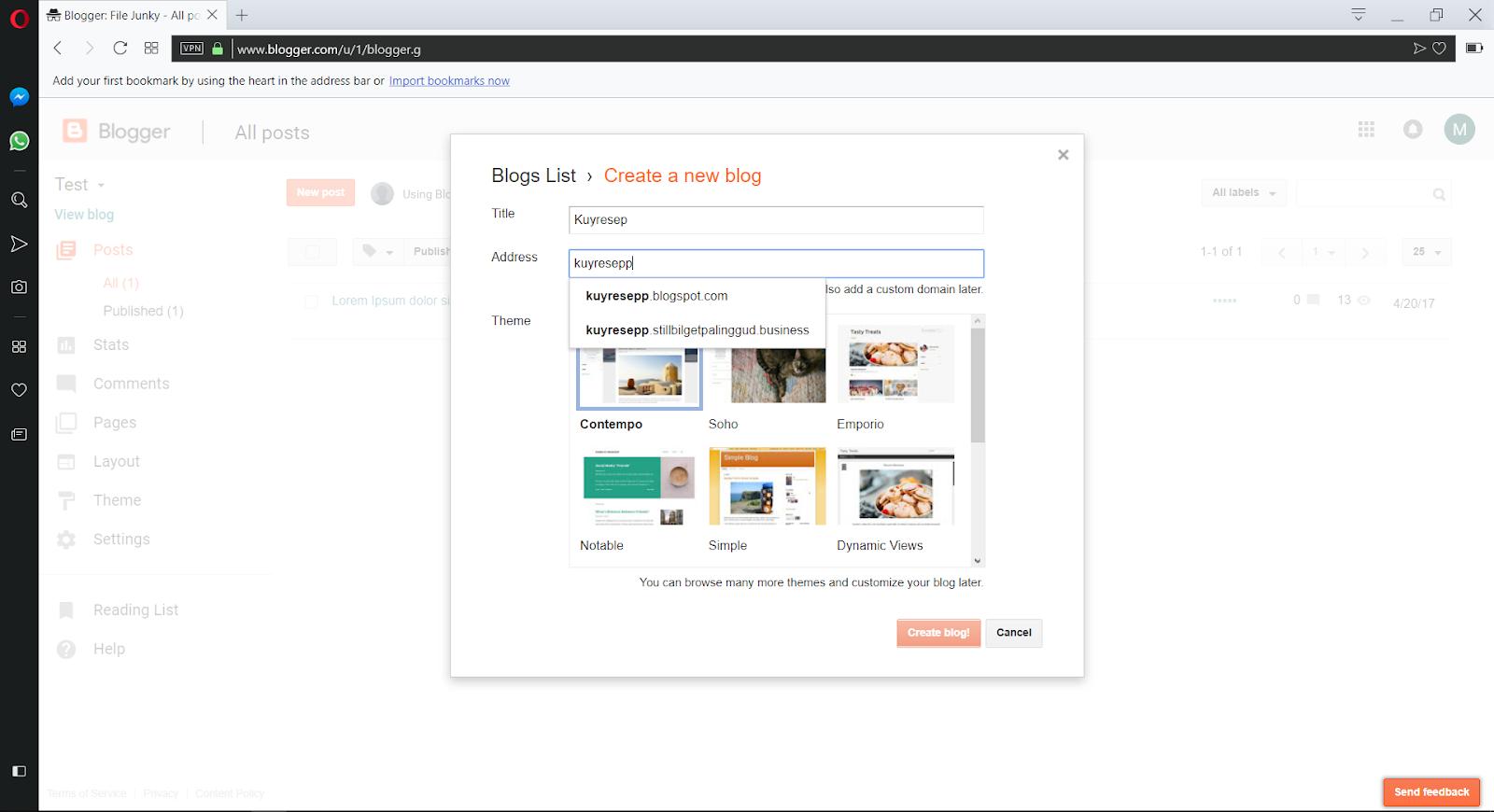 Langkah-Langkah Untuk Membuat Blog