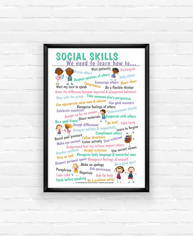 List Of 50 Social Skills To Teach Kids And Next Comes L