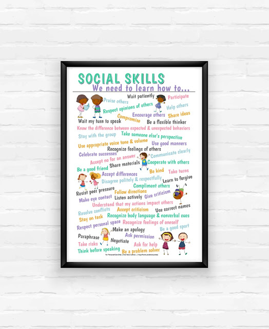 Printable social skills poster from And Next Comes L