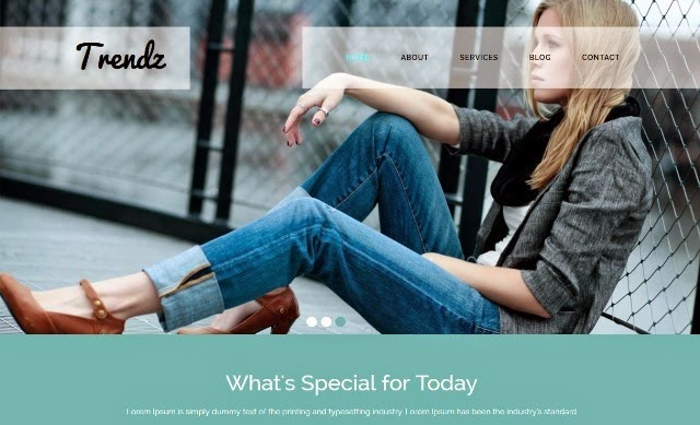 Trendz - Fashion HTML5 CSS3 Website Template