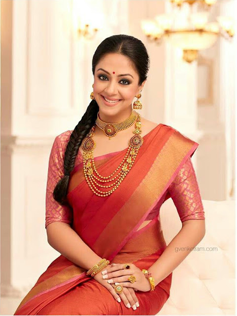 Jyothika Photoshoot Pics 003 1 - 38 year Old Jothika's pretty Saree Images-Looking Gorgeous in this Photos