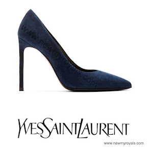 Princess Victoria wore Yves Saint Laurent Suede Pumps