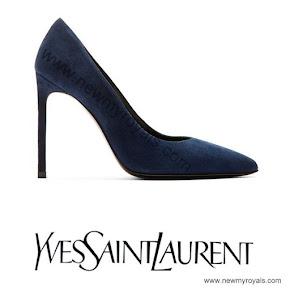 Princess Victoria wore Yves Saint Laurent Suede Pumps