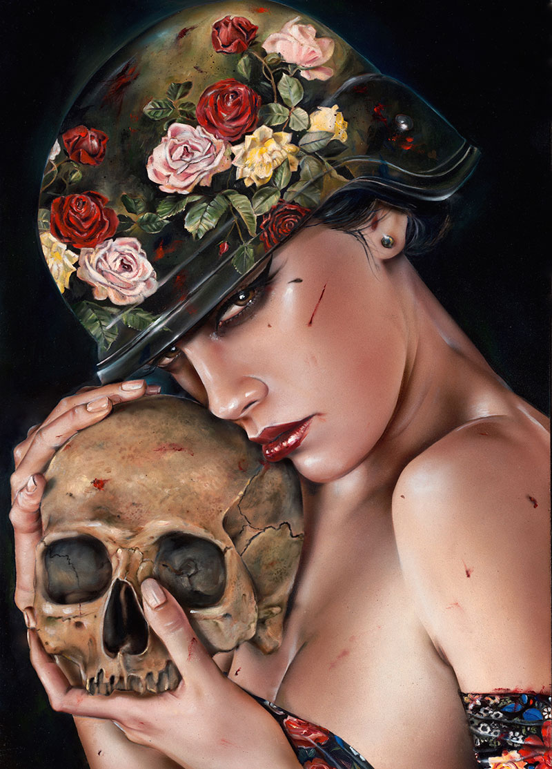 14-Till-Death-Brian-M-Viveros-Paintings-of-Femininity-in-the-Eye-of-the-Artist-www-designstack-co