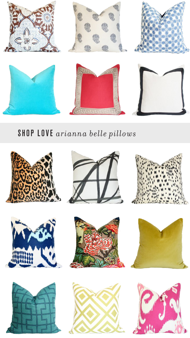 Arianna Belle The Blog: Because It's Awesome: Shop Love // Arianna Belle Pillows