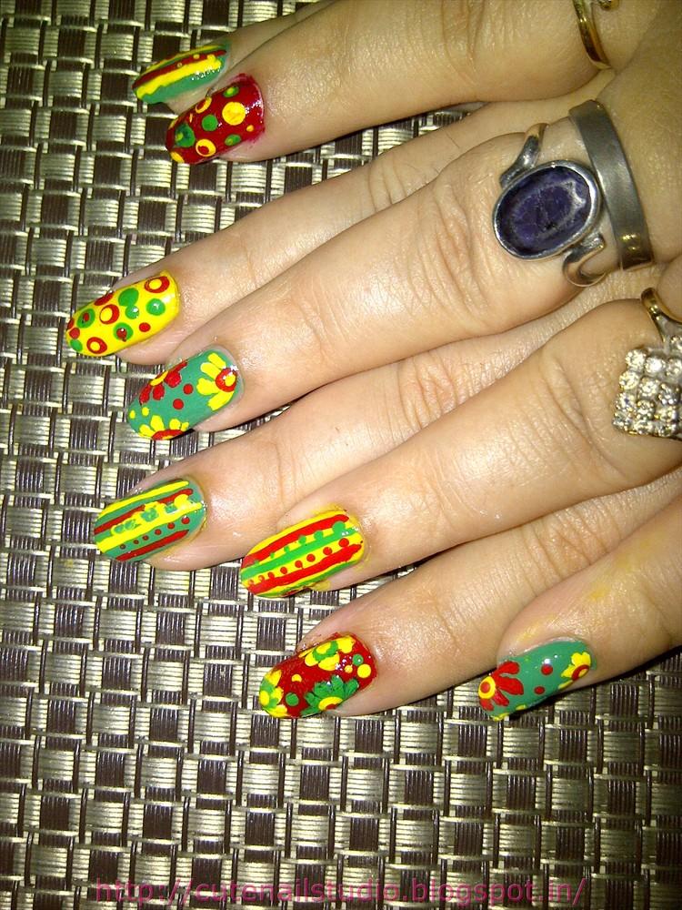 Cute Nails Rasta Nails Robin Moses Inspired