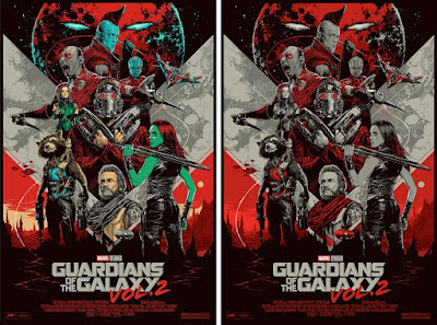 Guardians of the Galaxy Vol. 2 Movie Poster Screen Print by Ken Taylor x Mondo x Marvel - Regular Edition & San Diego Comic-Con 2017 Exclusive Variant