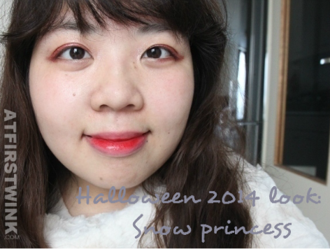 Halloween 2014 look: Snow princess