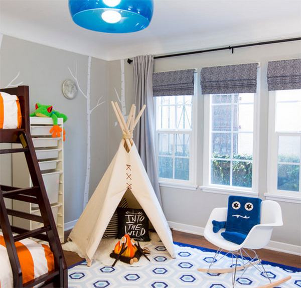 teepee boys bedroom