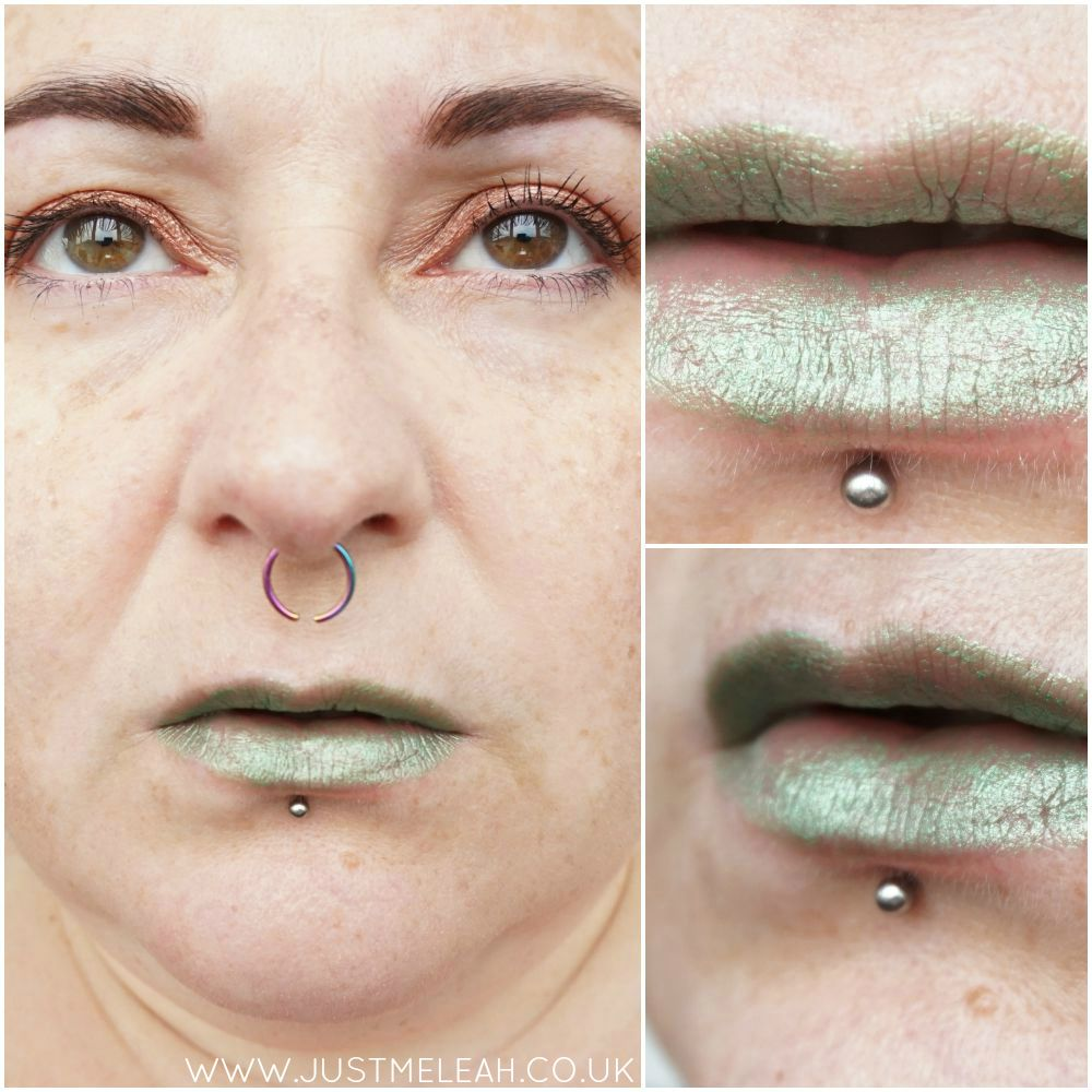 NICKA K NY ULTRA SLICK LIPSTICK IN BABE APPLE GREEN