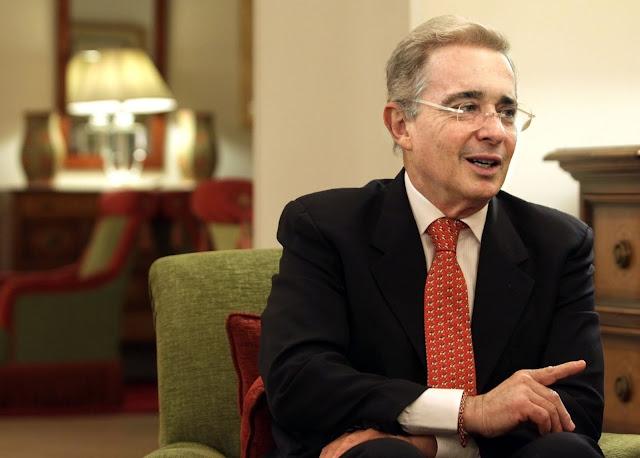Álvaro Uribe, este martes en Madrid. JAIME VILLANUEVA