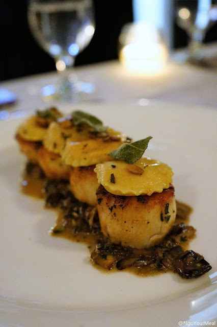Scallops at Marliave in Boston