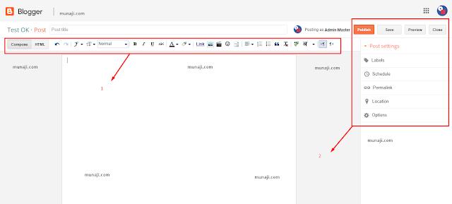 Cara Menggunakan Fitur Halaman Posting Blog