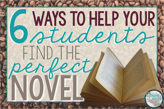 Check out these 6 ways to help your students find the perfect novel for independent reading in your classroom!