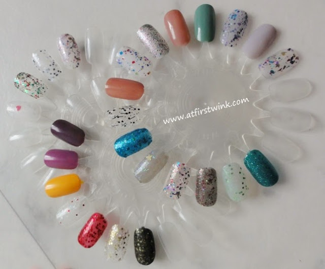 Showcasing my pretty nail polishes with nail polish display wheels
