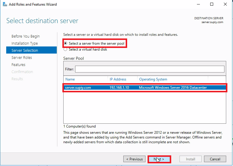 install iis 7 on windows server 2016