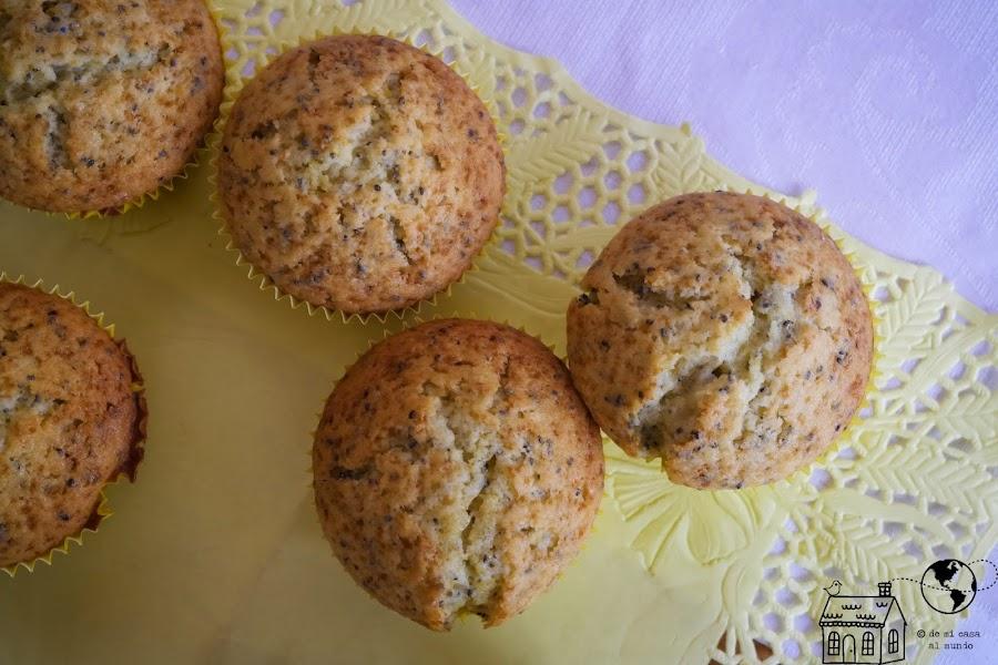 muffins al limon con chia